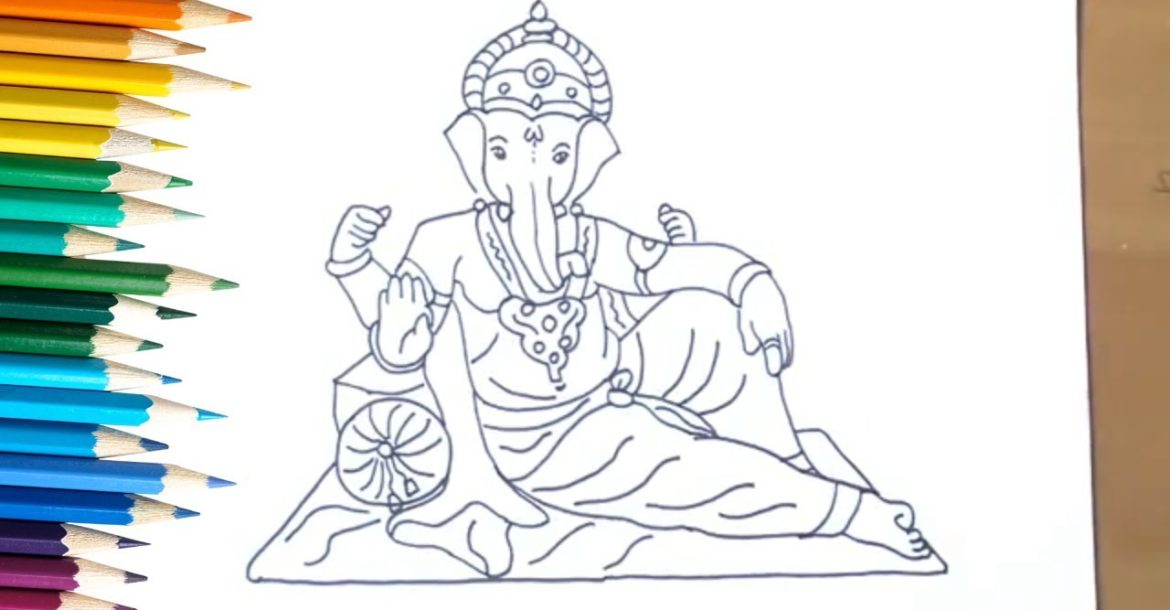 The Best Way To Draw God Ganesha With Easy Traces Drawing Of Ganesh Ji Simplyhindu